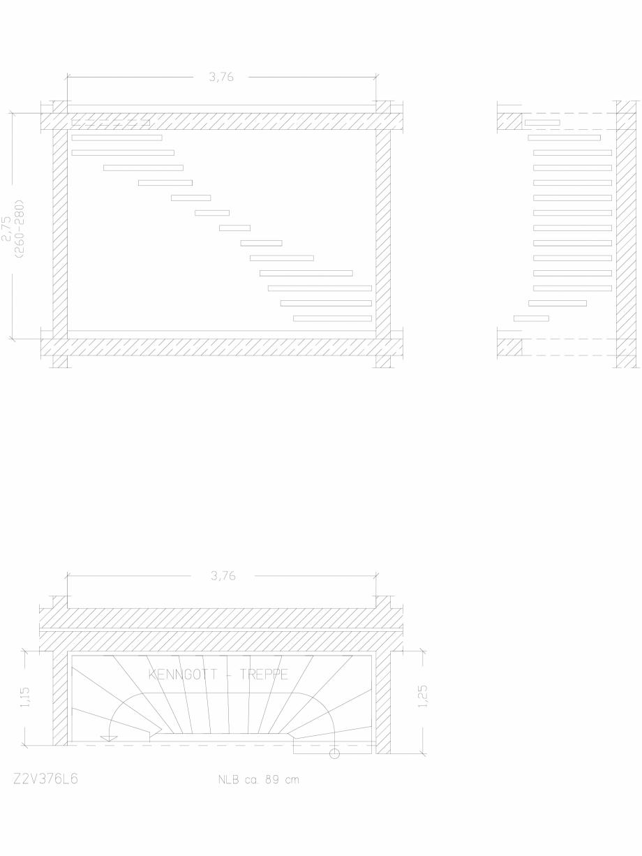 Pagina 1 - CAD-DWG Scara pe structura de metal - Z2V376L6 SCARI RO Detaliu de produs