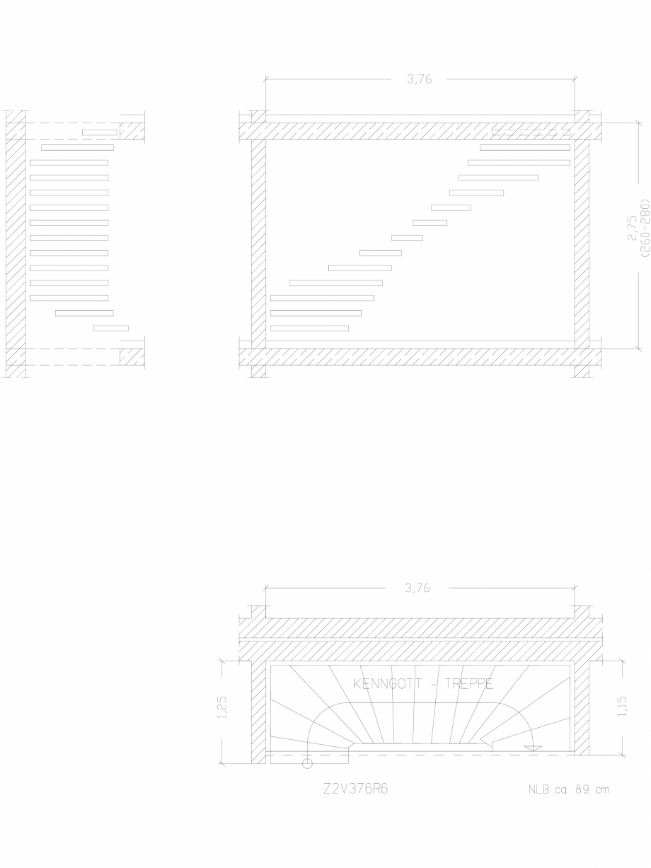Pagina 1 - CAD-DWG Scara pe structura de metal - Z2V376R6 SCARI RO Detaliu de produs