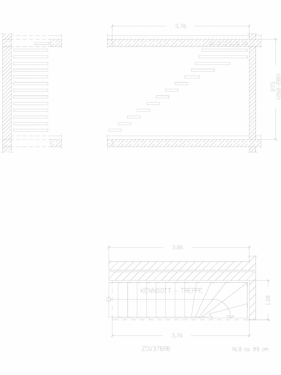 Pagina 1 - CAD-DWG Scara pe structura de metal - ZOV376R6 SCARI RO Detaliu de produs