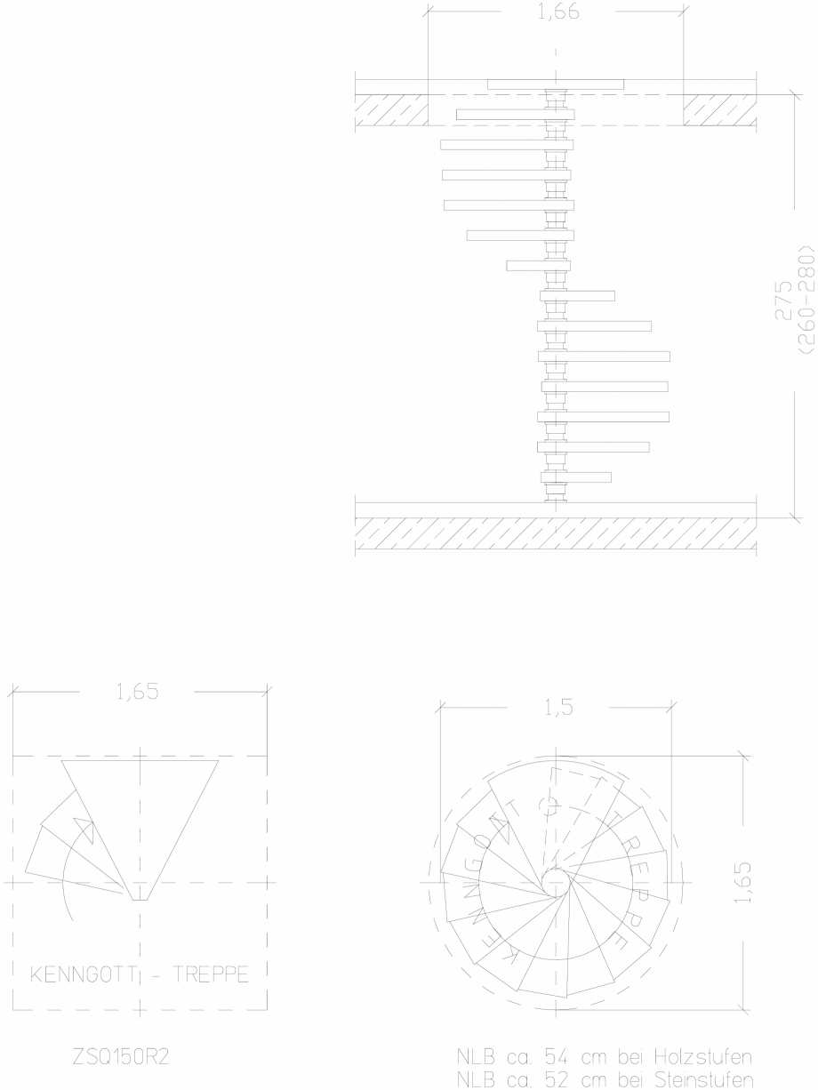 Pagina 1 - CAD-DWG Scara pe structura de metal - ZSQ150R2 SCARI RO Detaliu de produs