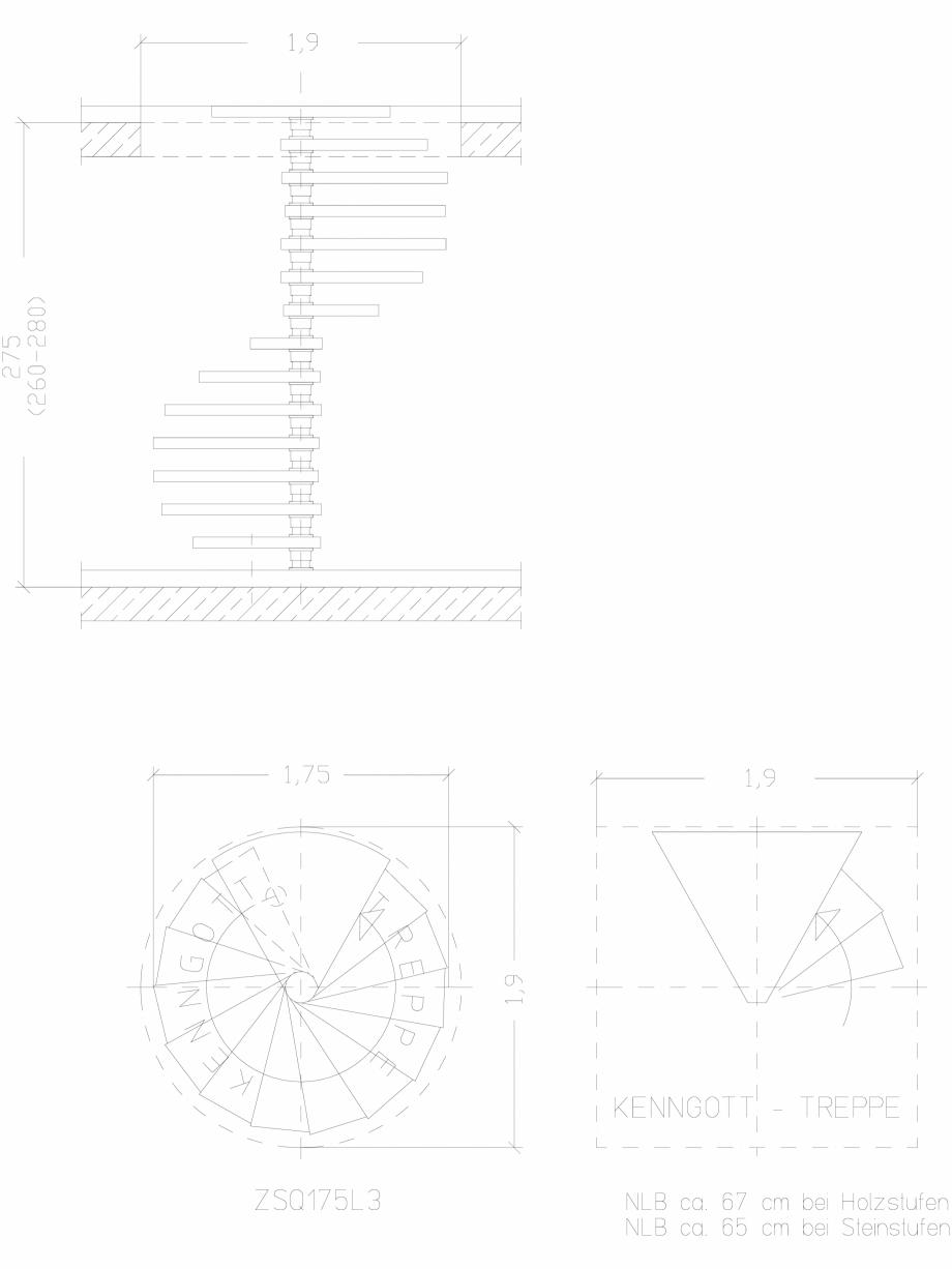 Pagina 1 - CAD-DWG Scara pe structura de metal - ZSQ175L3 SCARI RO Detaliu de produs