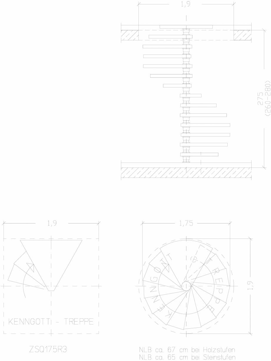 Pagina 1 - CAD-DWG Scara pe structura de metal - ZSQ175R3 SCARI RO Detaliu de produs