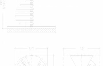 Scara pe structura de metal - ZSR175L3 SCARI RO