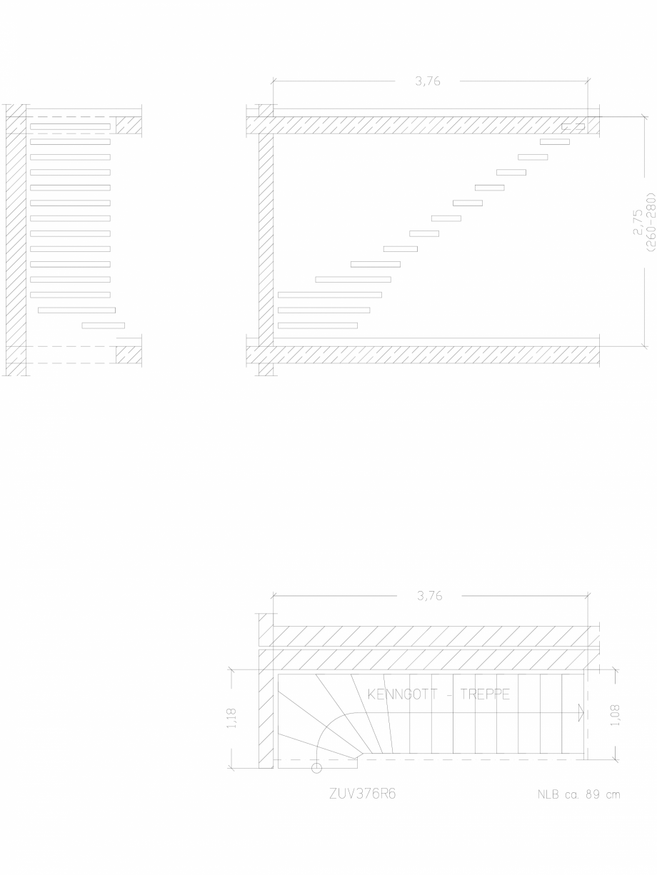 Pagina 1 - CAD-DWG Scara pe structura de metal - ZUV376R6 SCARI RO Detaliu de produs