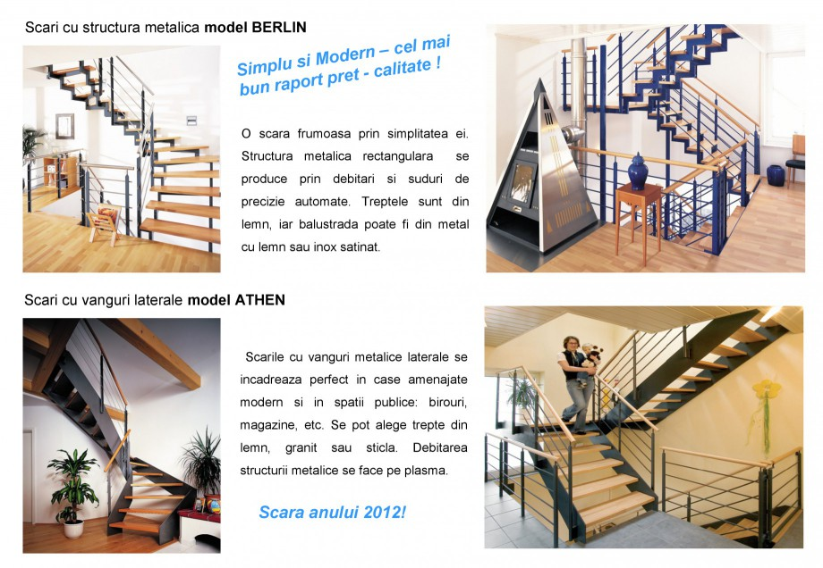 Pagina 4 - Scari pe structura de metal SCARI RO Autoportante, Athen, Berlin, Praga, Scari metalice...