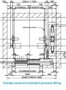 Sectiune orizontala ascensor 6 persoane (450 kg)