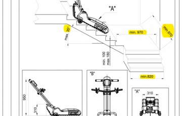 Caracteristici tehnice - Elevator cu senile Vimec