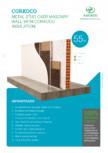 Placi din pluta expandata si fibra de cocos - Izolatie intre profile pe zidarie AMORIM -