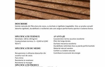 Placi din fibra de cocos AMORIM