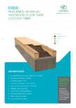 Placi din fibra de cocos - Rezistenta pardoseli din lemn masiv AMORIM - COCO