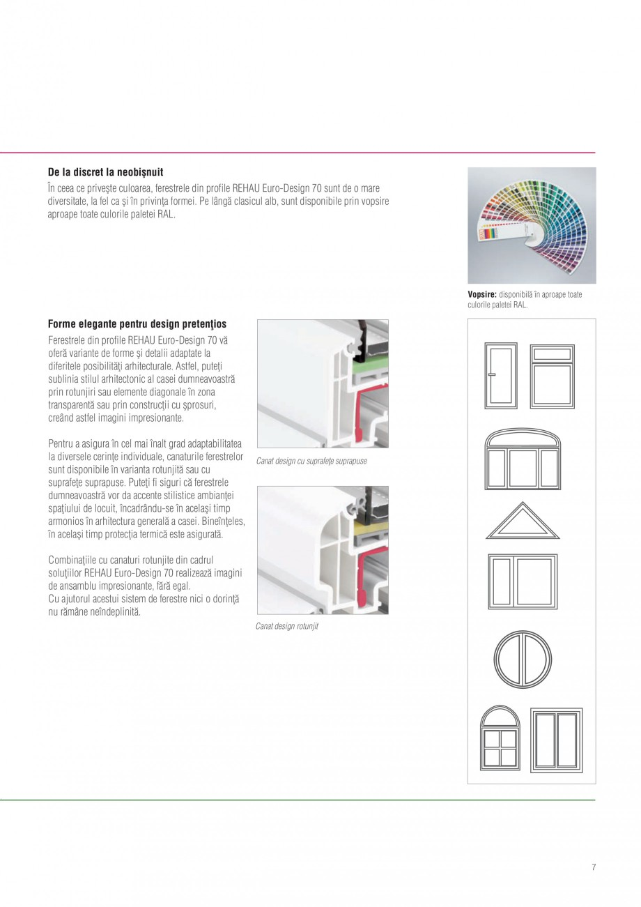 catalog brosura tamplarie pvc cu 5 caere euro design 70. Black Bedroom Furniture Sets. Home Design Ideas