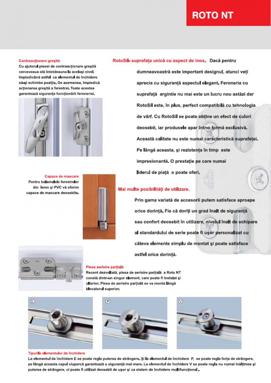 catalog brosura feronerie pentru fereastre cu profile pvc. Black Bedroom Furniture Sets. Home Design Ideas