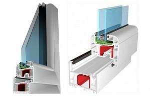 Ferestre din profile PVC Salamander 2D Ecoline ferestre pentru case si vile cu diferente mici de temperatura, Salamander BluEvolution sunt profile PVC pentru ferestre de case pasive.