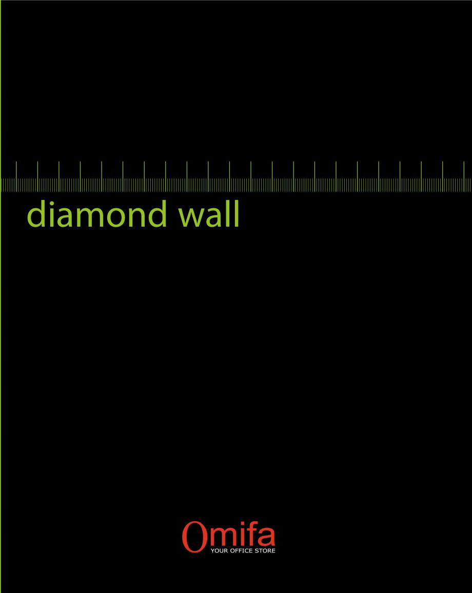 Pagina 1 - Pereti modulari de compartimentare din sticla OMIFA DIAMOND WALL Catalog, brosura Engleza...