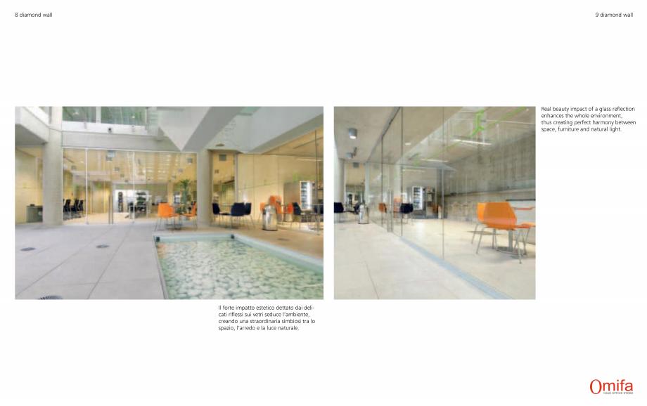 Pagina 5 - Pereti modulari de compartimentare din sticla OMIFA DIAMOND WALL Catalog, brosura Engleza...