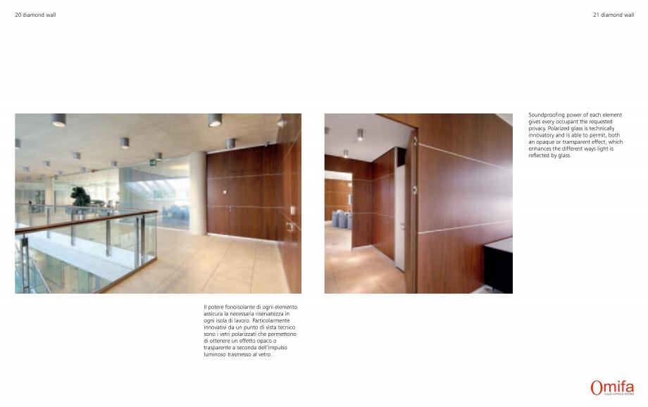Pagina 11 - Pereti modulari de compartimentare din sticla OMIFA DIAMOND WALL Catalog, brosura...
