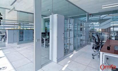 Perete modular de compartimentare din sticla / Perete modular de compartimentare din sticla -  DIAMOND WALL 3