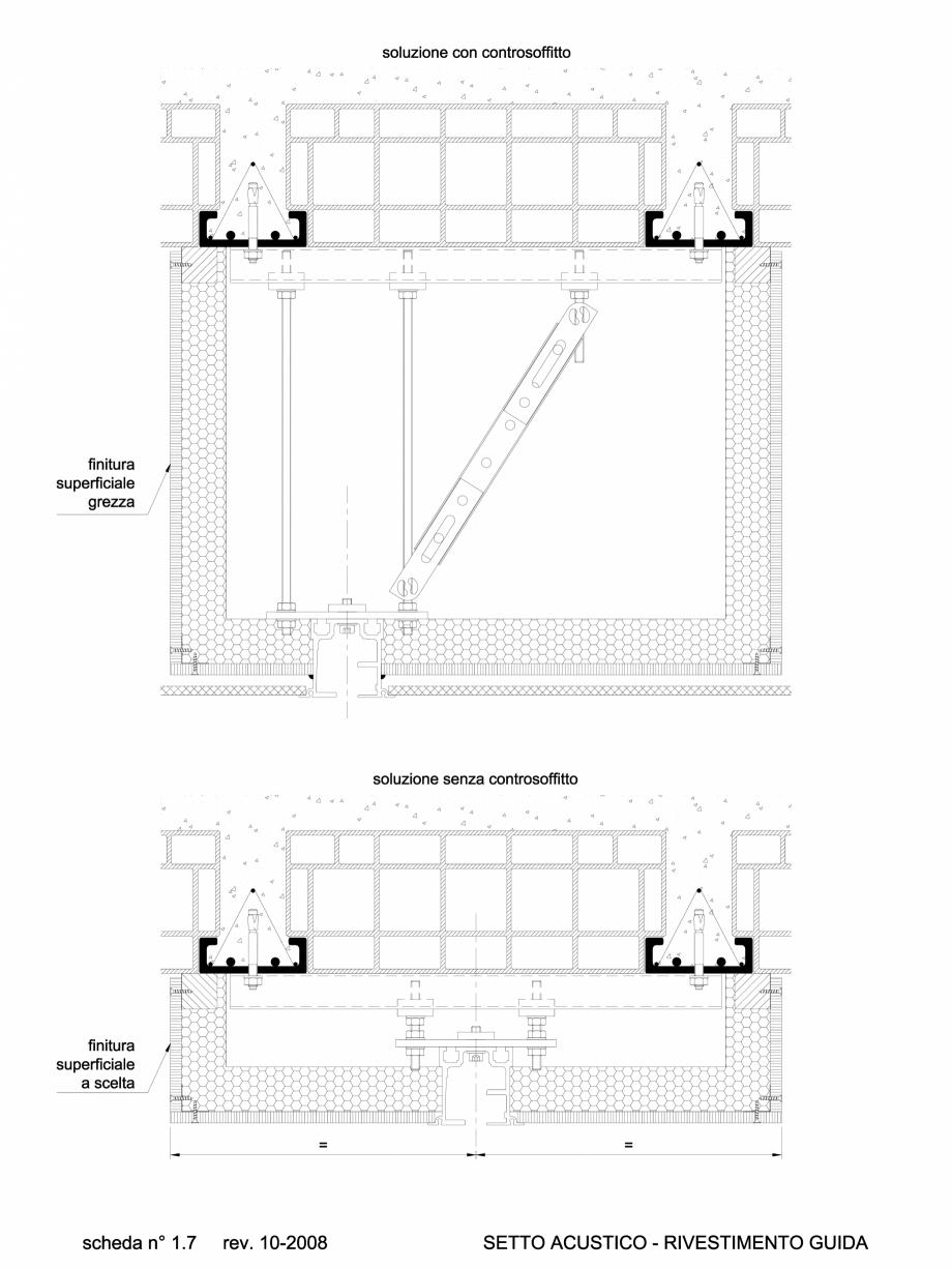 Pagina 1 - CAD-DWG 1.4.1 Prindere finisaj acustic pentru partitii amovibile ANAUNIA Detaliu de...