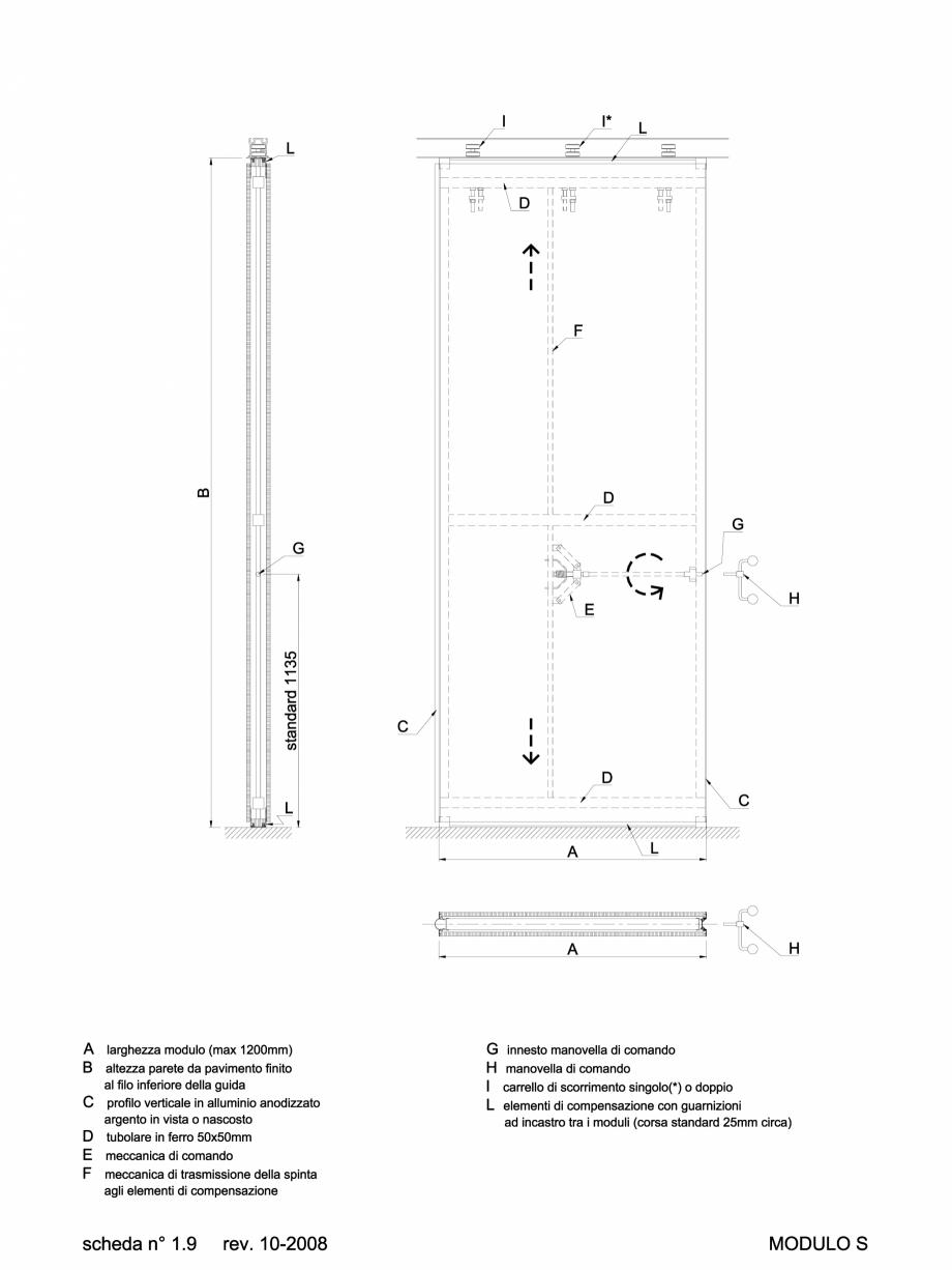 Pagina 1 - CAD-DWG 2.2.1 Partitie de tip S ANAUNIA Detaliu de produs PMI-Maxi