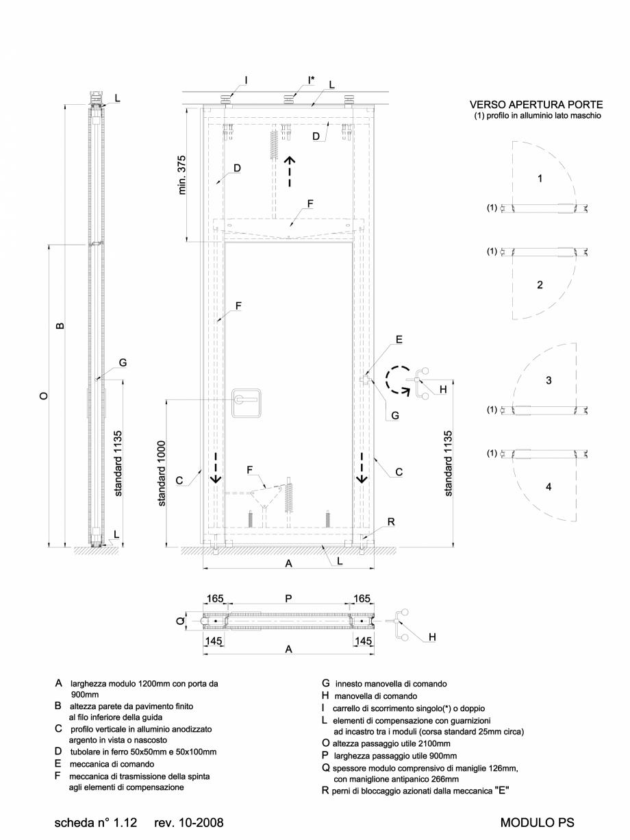 Pagina 1 - CAD-DWG 2.2.3 Partitie de tip PS ANAUNIA Detaliu de produs PMI-Maxi
