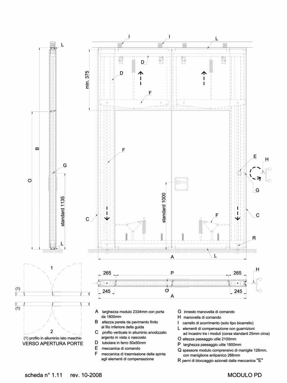 Pagina 1 - CAD-DWG 2.2.4 Partitie de tip PD ANAUNIA Detaliu de produs PMI-Maxi