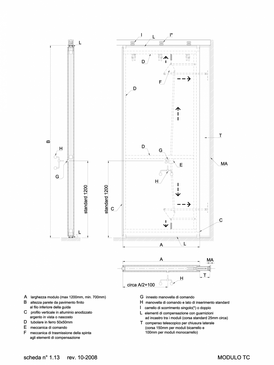 Pagina 1 - CAD-DWG 2.2.5 Partitie de tip TC ANAUNIA Detaliu de produs PMI-Maxi