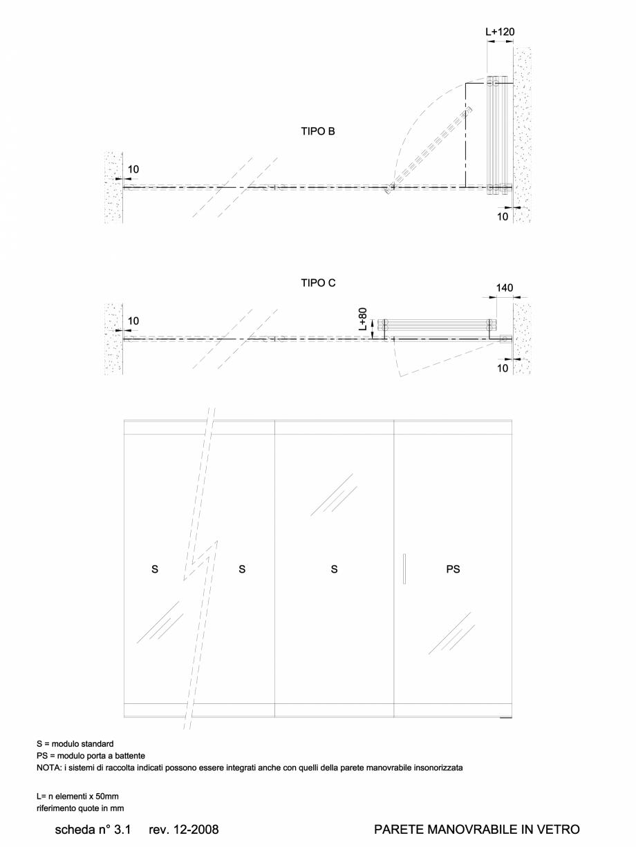 Pagina 1 - CAD-DWG 6.1.1 Prezentare sistem pereti amovibili ANAUNIA Detaliu de produs PMC-Crystal
