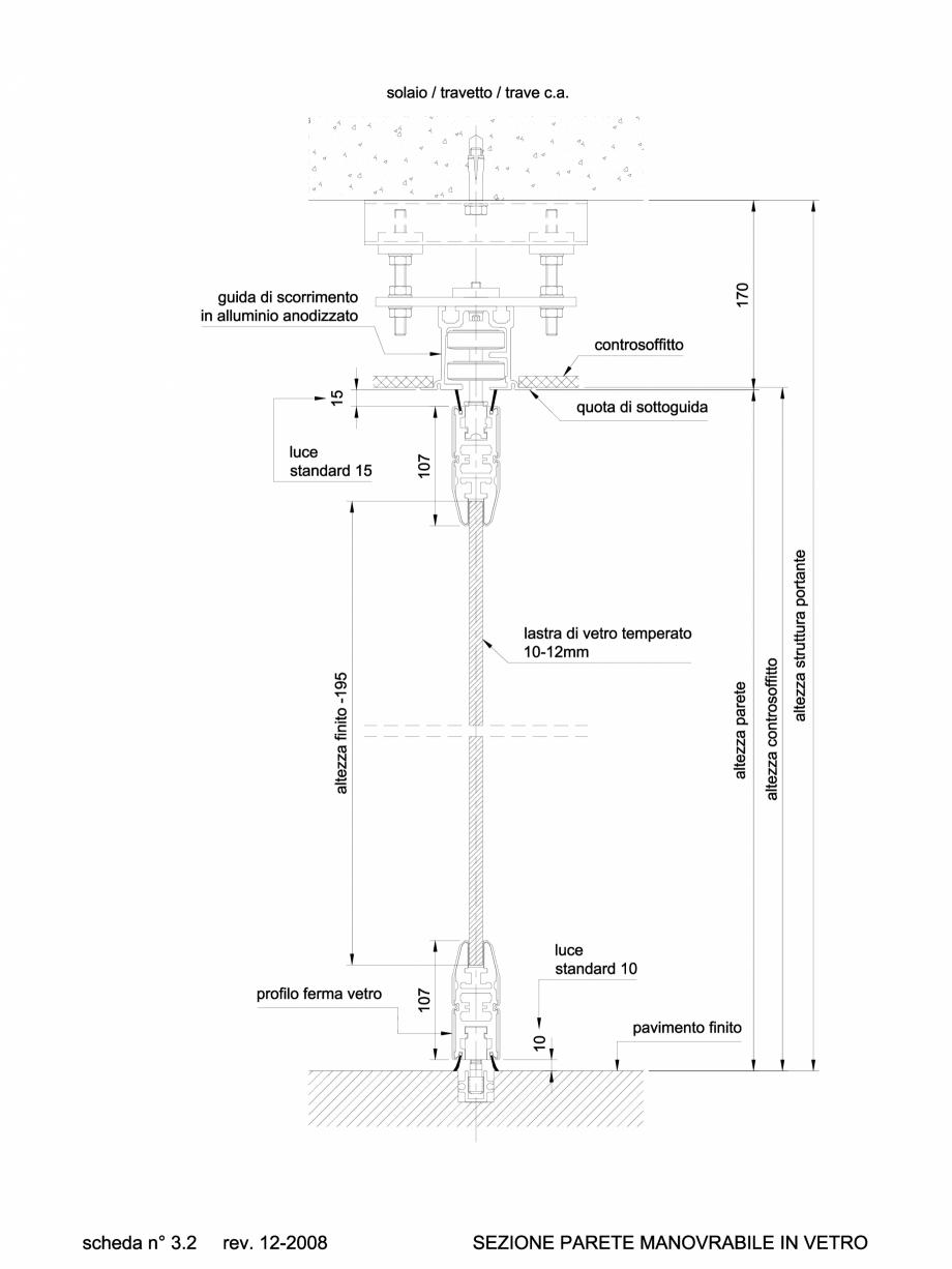 Pagina 1 - CAD-DWG 6.2.1 Sectiuni si detalii tehnice pereti amovibili ANAUNIA Detaliu de produs...