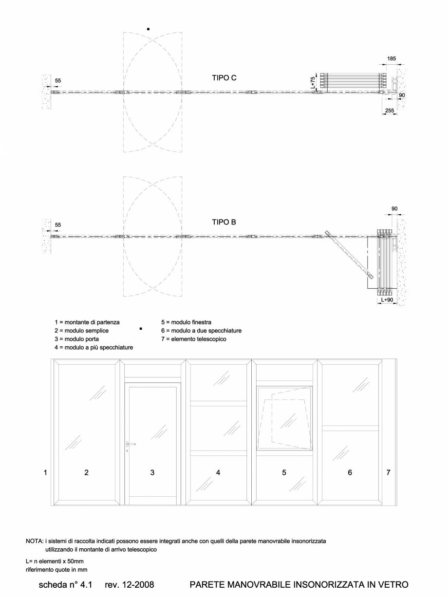 Pagina 1 - CAD-DWG 4.2.1 Prezentare sistem pereti amovibili ANAUNIA Detaliu de produs PMIV-GLASS