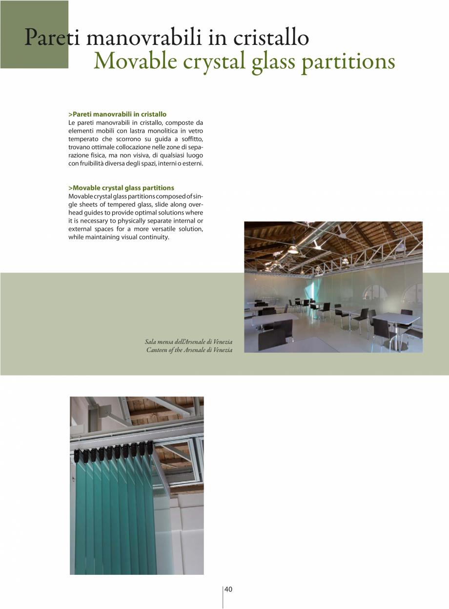 Pagina 1 - Partitii amovibile ANAUNIA PMC-Crystal Catalog, brosura Italiana, Engleza Pareti...