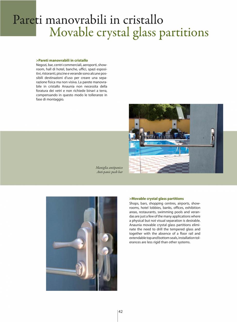 Pagina 3 - Partitii amovibile ANAUNIA PMC-Crystal Catalog, brosura Italiana, Engleza rill the...