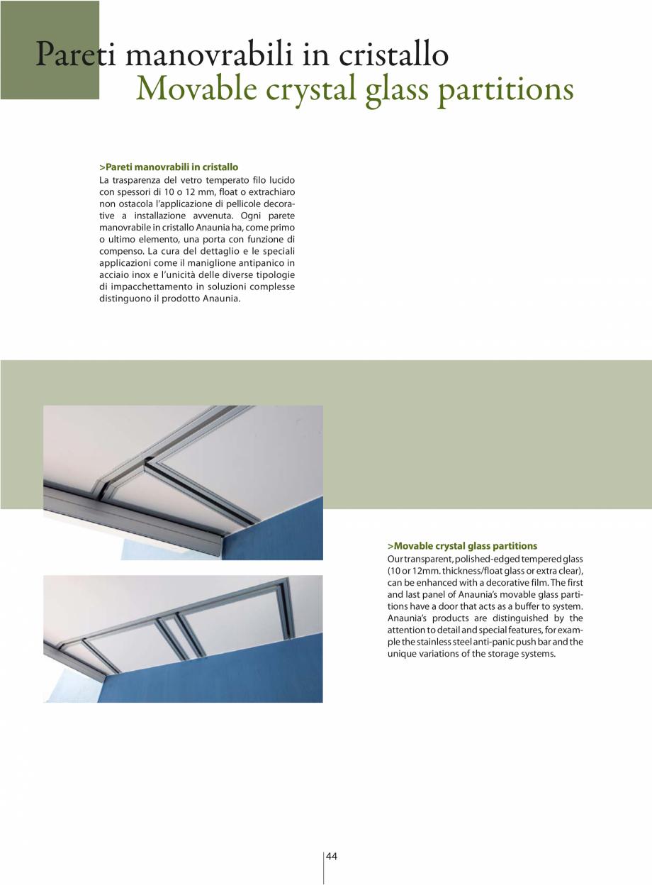 Pagina 5 - Partitii amovibile ANAUNIA PMC-Crystal Catalog, brosura Italiana, Engleza