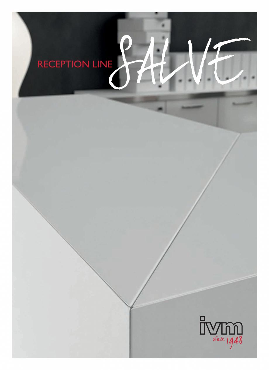 Pagina 1 - Mobilier pentru receptii - SALVE IVM Colectia SALVE Catalog, brosura Engleza, Franceza,...