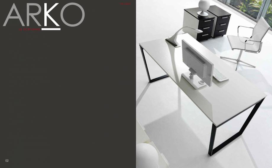 Pagina 3 - Mobilier pentru birouri  IVM Colectia ARKO Catalog, brosura Engleza, Franceza, Italiana...