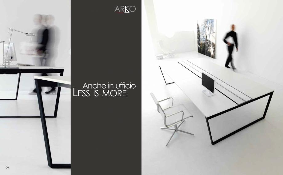 Pagina 5 - Mobilier pentru birouri  IVM Colectia ARKO Catalog, brosura Engleza, Franceza, Italiana...
