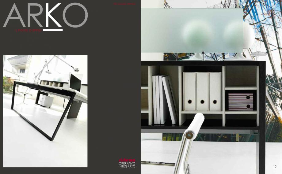 Pagina 9 - Mobilier pentru birouri  IVM Colectia ARKO Catalog, brosura Engleza, Franceza, Italiana...