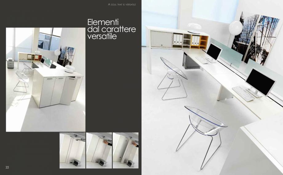 Pagina 13 - Mobilier pentru birouri  IVM Colectia ARKO Catalog, brosura Engleza, Franceza, Italiana ...