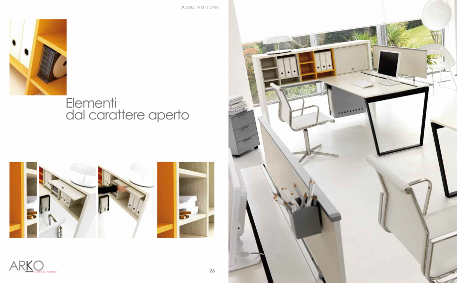 Pagina 15 - Mobilier pentru birouri  IVM Colectia ARKO Catalog, brosura Engleza, Franceza, Italiana ...