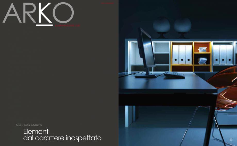 Pagina 16 - Mobilier pentru birouri  IVM Colectia ARKO Catalog, brosura Engleza, Franceza, Italiana ...