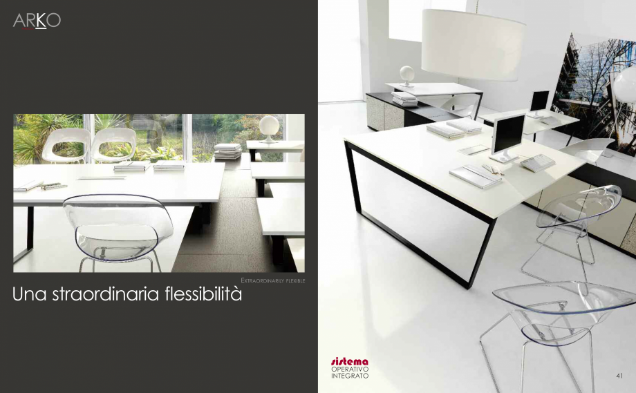Pagina 22 - Mobilier pentru birouri  IVM Colectia ARKO Catalog, brosura Engleza, Franceza, Italiana ...