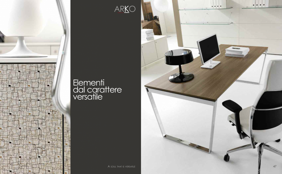 Pagina 25 - Mobilier pentru birouri  IVM Colectia ARKO Catalog, brosura Engleza, Franceza, Italiana ...