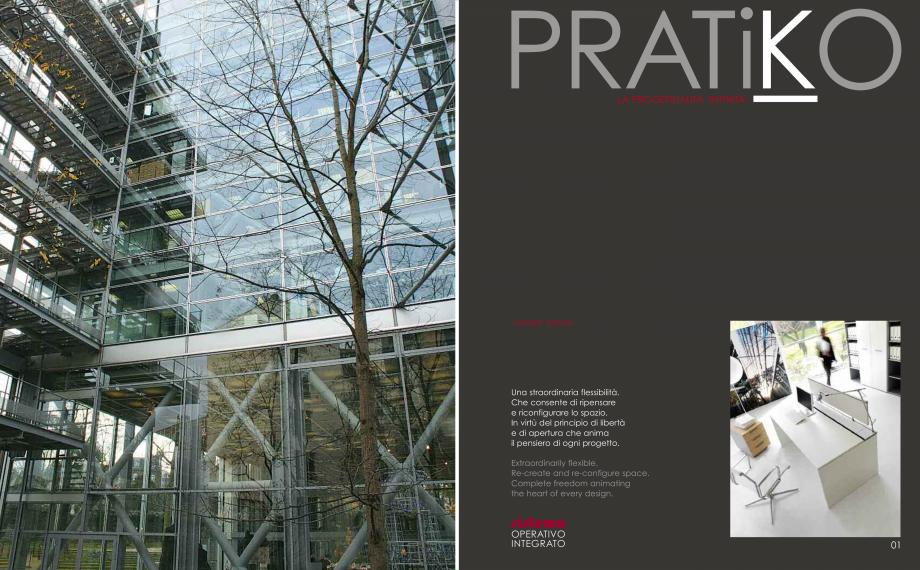 Pagina 2 - Mobilier pentru birouri IVM Colectia PRATIKO Catalog, brosura Engleza, Italiana UL THAT...