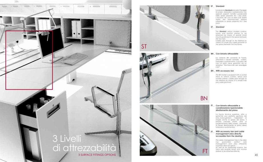 Pagina 24 - Mobilier pentru birouri IVM Colectia PRATIKO Catalog, brosura Engleza, Italiana sono...