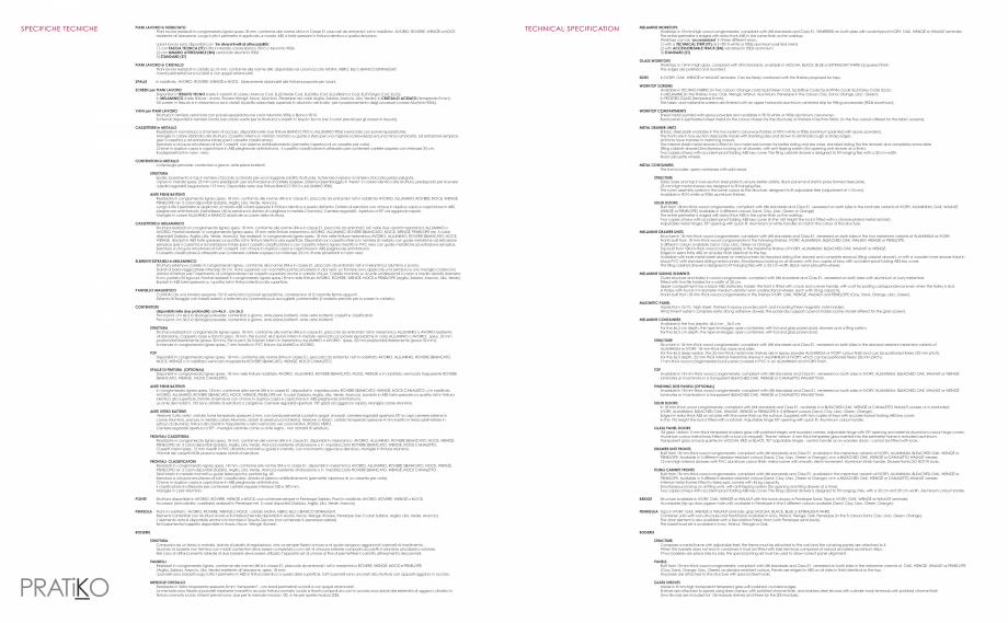 Pagina 27 - Mobilier pentru birouri IVM Colectia PRATIKO Catalog, brosura Engleza, Italiana ustable ...