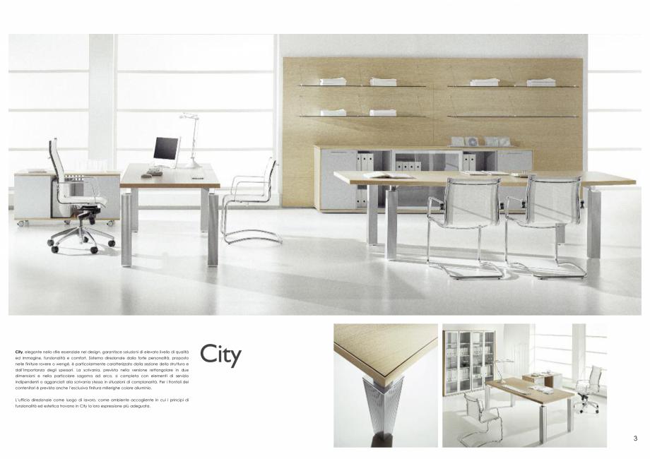 Pagina 2 - Mobilier pentru birouri IVM Colectia CITY Catalog, brosura Engleza, Italiana utive system...