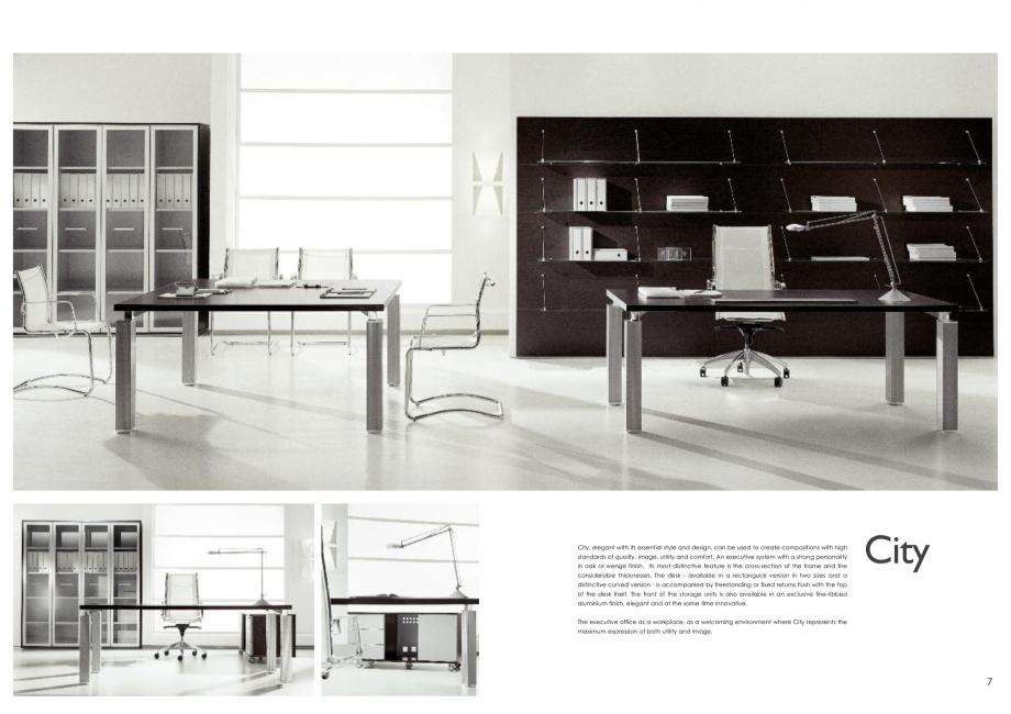 Pagina 4 - Mobilier pentru birouri IVM Colectia CITY Catalog, brosura Engleza, Italiana wall...