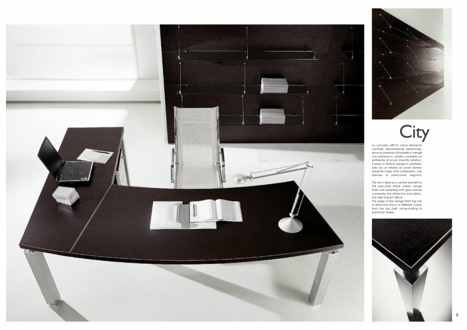 Pagina 5 - Mobilier pentru birouri IVM Colectia CITY Catalog, brosura Engleza, Italiana Wengè ...