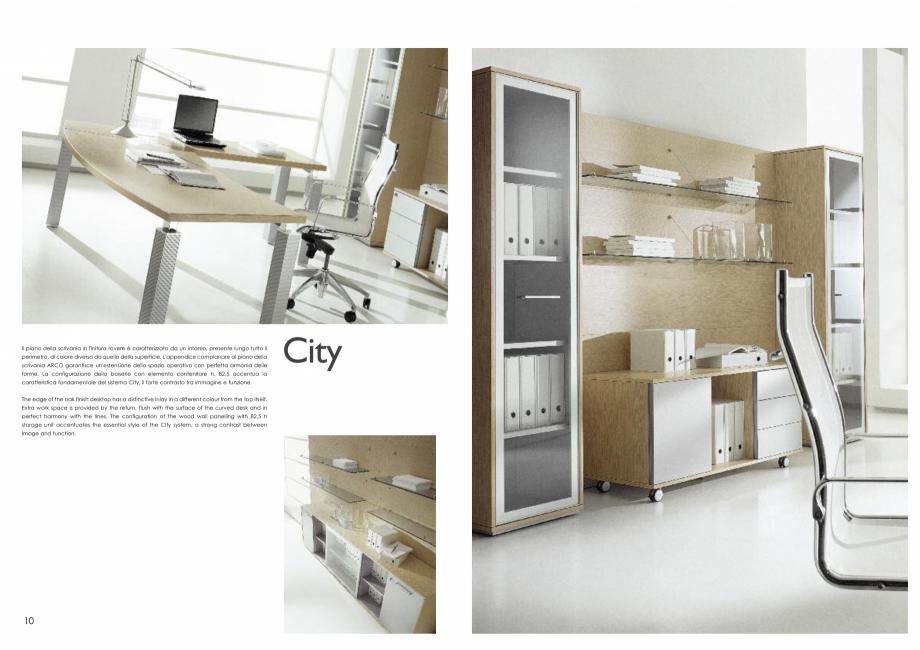 Pagina 6 - Mobilier pentru birouri IVM Colectia CITY Catalog, brosura Engleza, Italiana