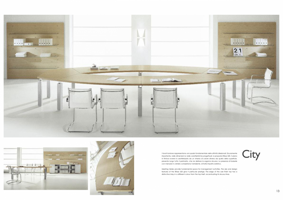 Pagina 7 - Mobilier pentru birouri IVM Colectia CITY Catalog, brosura Engleza, Italiana