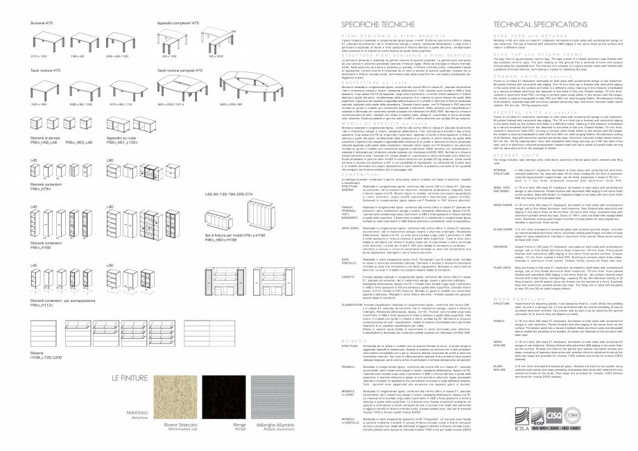 Pagina 8 - Mobilier pentru birouri IVM Colectia CITY Catalog, brosura Engleza, Italiana